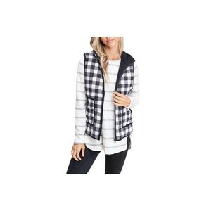 Staccato High Neck Plaid Cord Vest. NWOT!